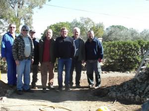 Photo du groupe avec Monsieur le Maire.