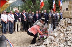 Dépôt de la gerbe du Souvenir Français de Montredon Labessonié (81)